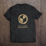 Screen Print Shirt Brown Box Branding